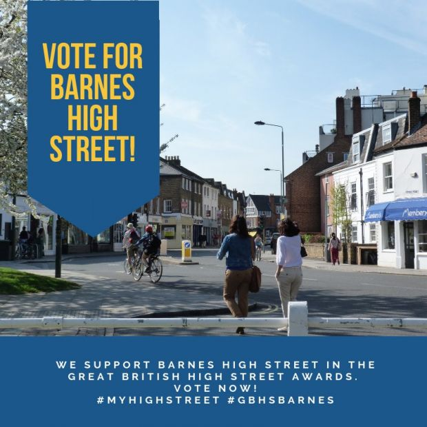 Barnes shortlisted in The Great British High Street competition