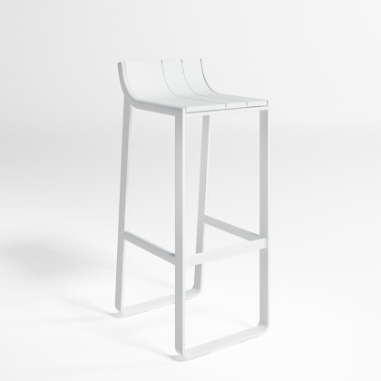 Gandia Blasco Taburete Flat - Tall Stool with back