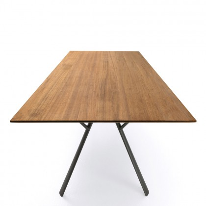 Radice Quadra Table with Teak Top