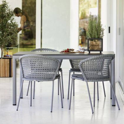 Lean Chair Stackable Without Armrest - French Weave